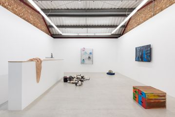 Installation view of '] [' at Annka Kultys Gallery, London 2017. Photo: Annka Kultys Gallery (Damian Griffiths)