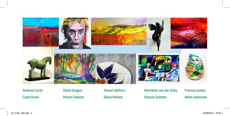 All 10 exhibiting artists