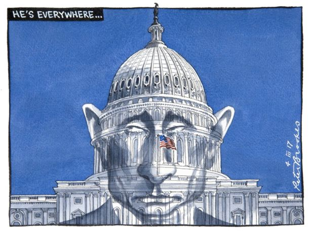 He's Everywhere... by Peter Brookes