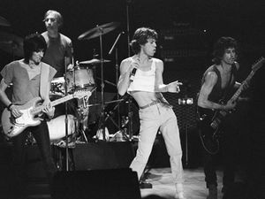 Richard Young; The Rolling Stones in Concert, Aberdeen, Scotland, 1982