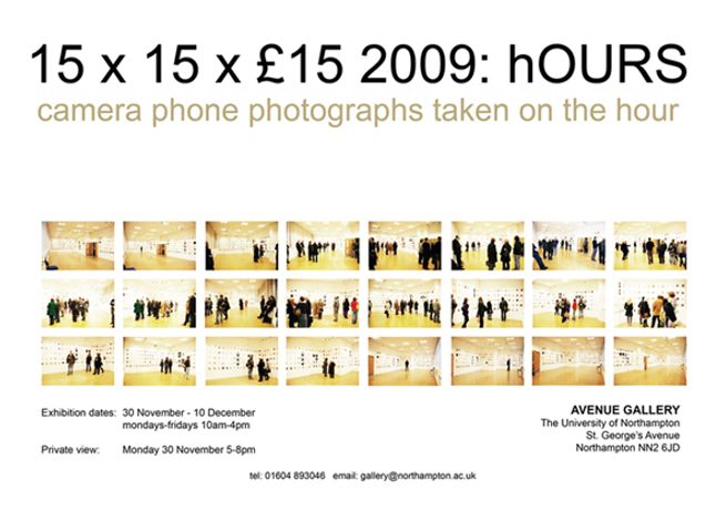 15 x 15 x £15 2009 hOURS: Image 0