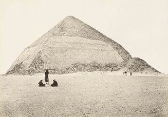 Francis Frith »The Southern Stone Pyramid of Dashoor. From the South« 1857 Albumen print from collodion glass negative, mounted on paper