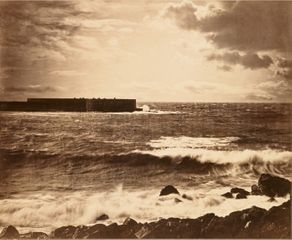Gustave Le Gray »Grande Vague, Cette (Sète)« 1856-1858 Albumen print from collodion glass negative, mounted on paper