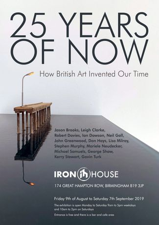 Exhibition Poster for 25 Years of Now at Iron House