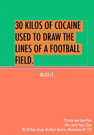 30 Kilos of Cocaine used to Draw the Lines of a Football Pitch: Image 0