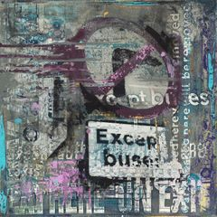 Purple Patch Purple Patch Jane Price (51x51cm), acrylic and mixed media.