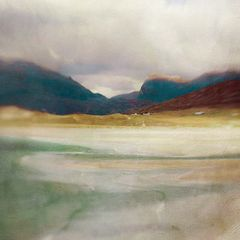 Luskentyre Bay Harris Cath Waters digital image limited edition print  46 x 46  cm