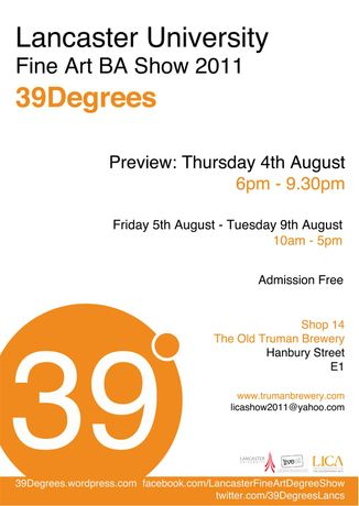 39Degrees: Lancaster University Fine Art Degree Show: Image 0
