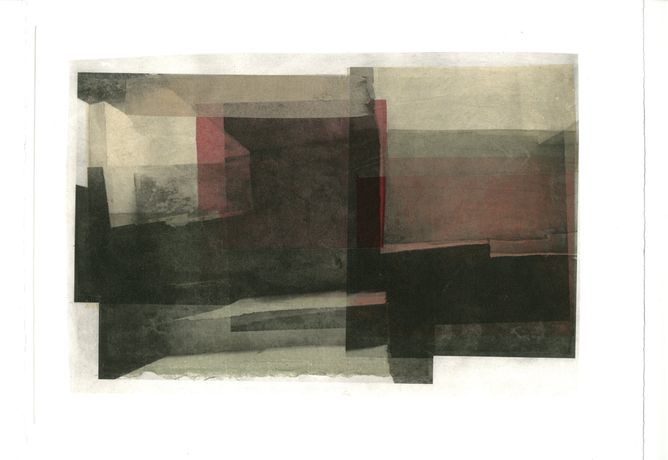 Tooney Phillips, Soffit Boundary (2012), Photo Etching and Chine-Coll´on Somerset 300gsm, Edition of 40 (Varied), 29cm x 37cm