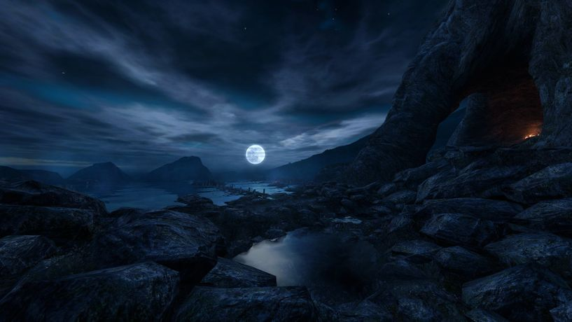 The Chinese Room, Dear Esther (2012), still from video game.