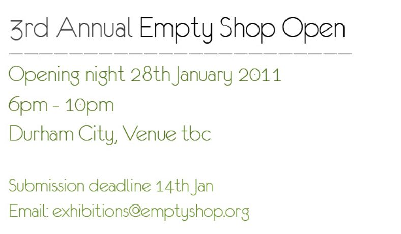 3rd Annual Empty Shop Open: Image 0