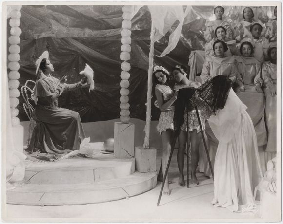 Scene from the theatrical production Four Saints in Three Acts, 1934. Photo by White Studio © Archives/Wadsworth Atheneum Museum of Art