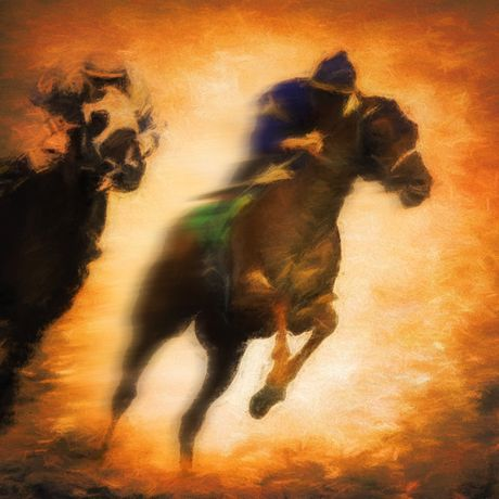 Two Horse Race by Mike Coles