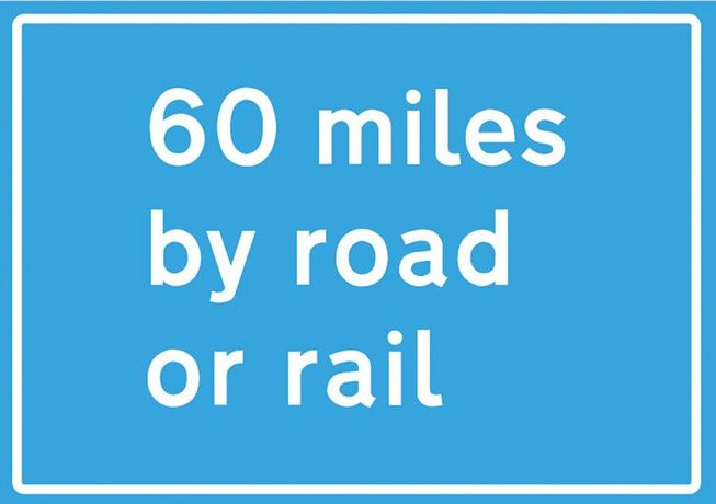 60 Miles by Road or Rail: Image 0