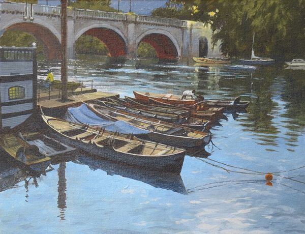Bert Wright, Moorings at Dusk Richmond