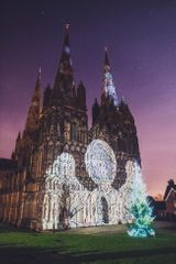 A Cathedral Illuminated - The Angels are Coming ! Lichfield Cathedral