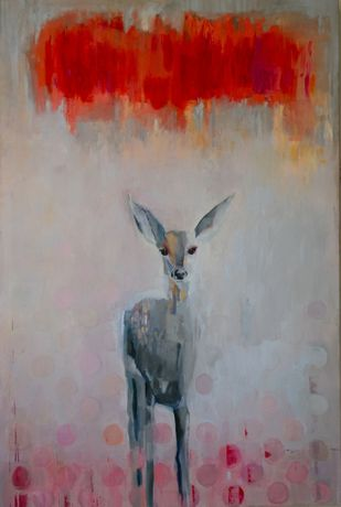 eevil bambi Oil & glazes on canvas
