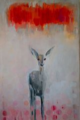 eeevil bambi  oil,glaze canvas