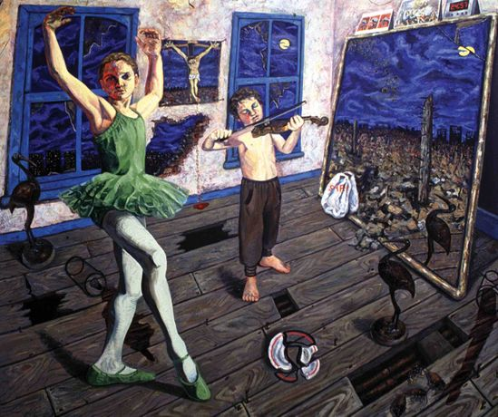 A Dance to the Music of Time I (1990) - Oil on Canvas 152cm x 183cm