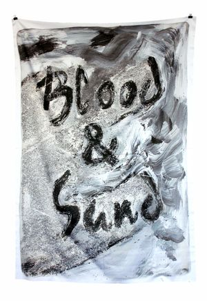 'Blood & Sand', digital print on fabric