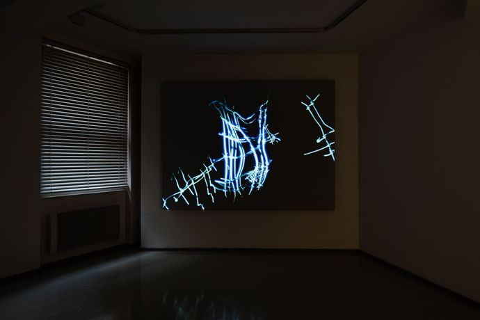Sam Austen, Somehow Eaten in the Dark, 2016 3 channel video installation, 9:11 mins, silent
