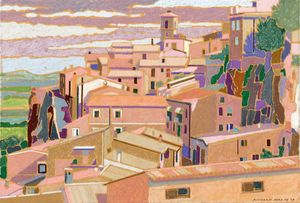 Richard Rees PS Staithes Rooftops