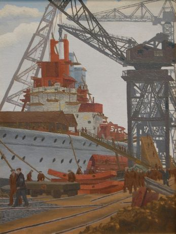 Ginner - Building of HMS The Prince of Wales, 1940