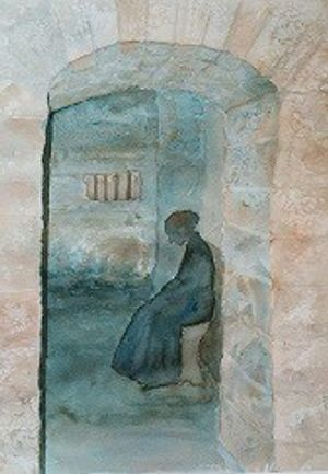 woman in prison cell