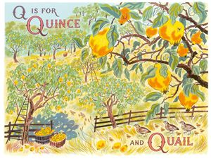 Q is for Quince and Quail | Emily Sutton