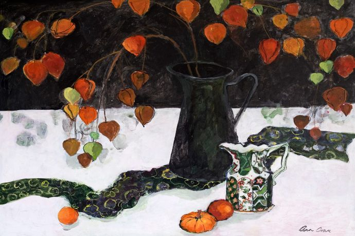 Chinese Lantern and Black Jug | ANN ORAM