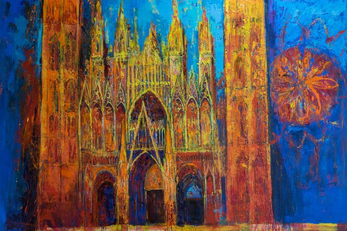 Glowing Facade, Rouen Cathedral | ANN ORAM
