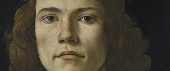 Detail from Sandro Botticelli, Portrait of a Young Man, probably about 1480–5