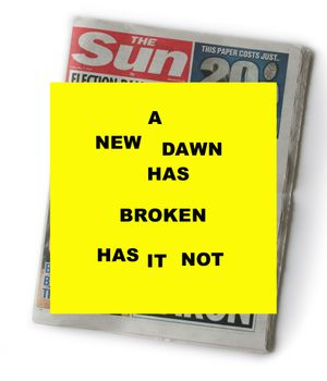 A NEW DAWN HAS BROKEN HAS IT NOT  - Rachel Tweddell