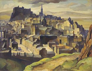 William Crozier, Edinburgh (from Salisbury Crags) c.1927 (detail) © National Galleries of Scotland. Photography by Antonia Reeve.