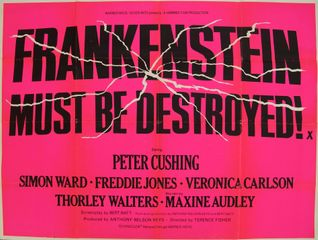 Frankenstein must be destroyed - Original Film Poster