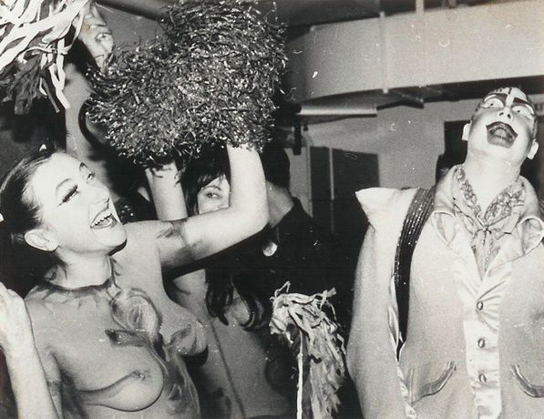 Neo Naturists cheerleaders with Leigh Bowery and Michael Clark, Royal Opera House, London, 1986. Courtesy of Neo Naturists Archive