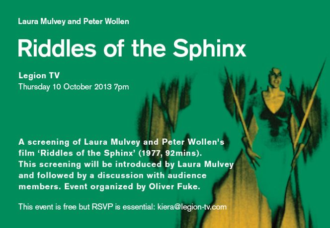 A screening of Laura Mulvey and Peter Wollen's Riddles of the Sphinx': Image 0