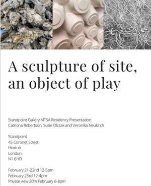 A sculpture of site, an object of play