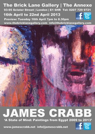 A State of Mind: Paintings from Egypt 2009 to 2013 by British artist James Crabb: Image 0