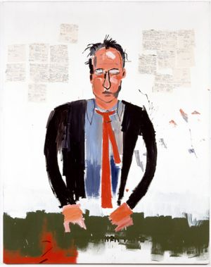 Portrait of Robert Fraser by Jean-Michel Basquiat