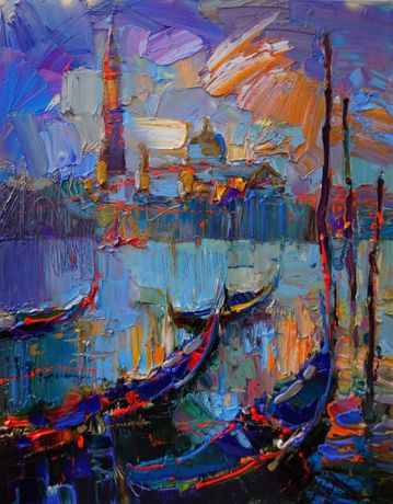 Andrey Figol, Venice, Oil on Canvas, 30 x 24