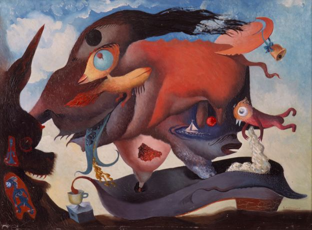 Reuben Mednikoff The Flying Pig, September 10, 1936 Oil on board, Private Collection