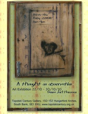 A thought on observation, Solo Exhibition by Sanna Jarl - Hansson