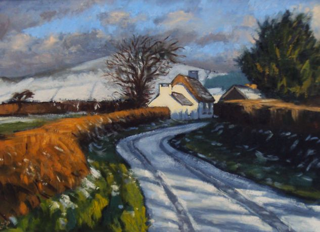 First snow, Penrhos by Thomas Haskett
