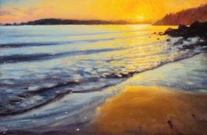 Amroth sunset by Thomas Haskett