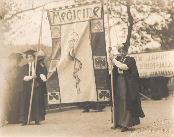 National Union of Women's Suffrage Societies Suffrage procession to the Royal Albert Hall on 13 June 1908 (c) The Women's Library at the LSE - mid res