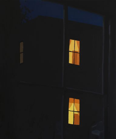 Sophie Treppendahl, Night Window, 27th Street, 2020, oil on canvas, 36 x 30 inches