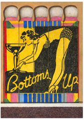 Aaron Kasmin, Bottoms Up, 2016. Coloured pencil, 30x21cm. Sims Reed Gallery