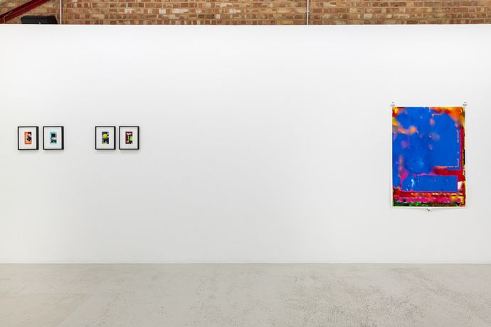 Installation view of Aaron Scheer 'FINAL_007 (02)' at Annka Kultys Gallery, London 2018. Photo: Annka Kultys Gallery (Damian Griffiths)