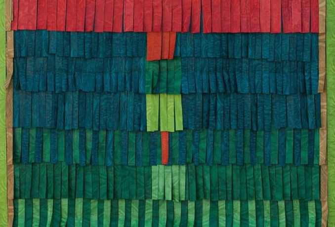 Abdoulaye Konaté Composition: No. 10 (vert) (detail) 2014 Textile 234 x 147 cm / (92⅛ x 57⅞ in)
